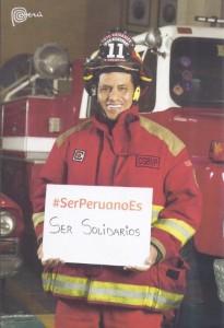 Translation: Being Peruvian is having solidarity.