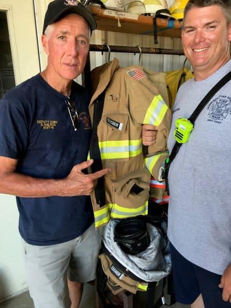 Chief Bobby Halton and Asst. Chief Keith Buntin